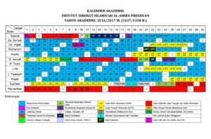PREDIKSI KALENDER AKADEMIK 2016-2017