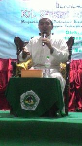 KH. Zarkasyi Musthofa, Lc. Saat Mengisi Acara Maulid Nabi Muhammad saw.