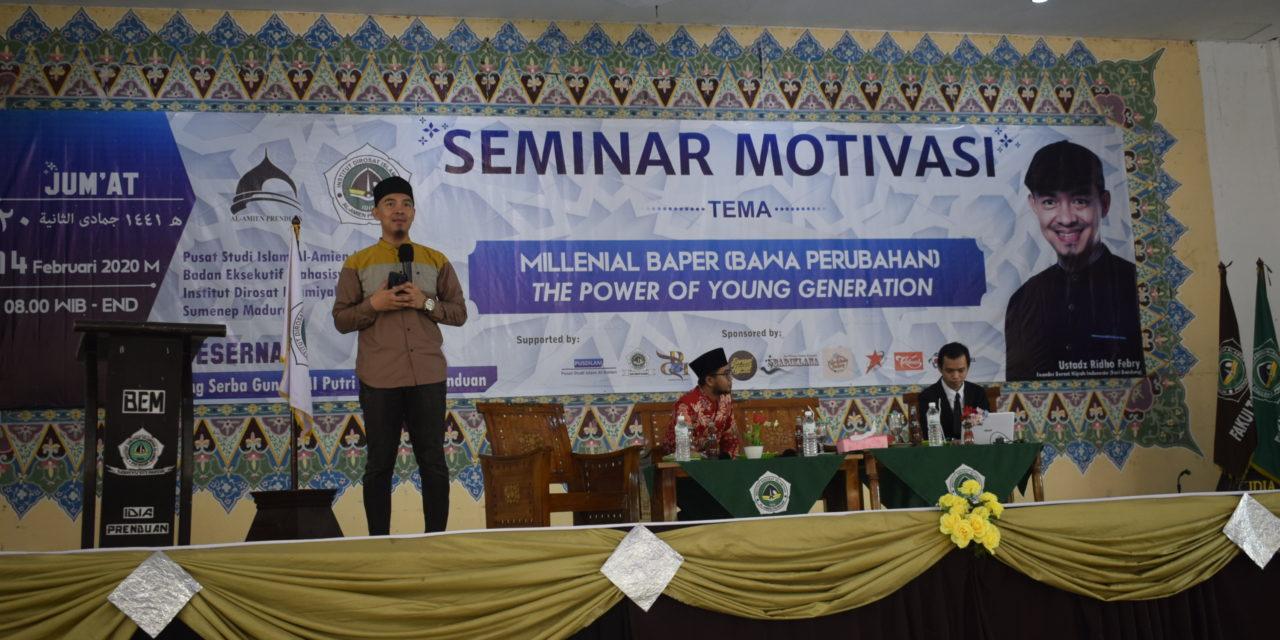 Pacu Motivasi, BEM IDIA Prenduan Adakan Seminar Motivasi