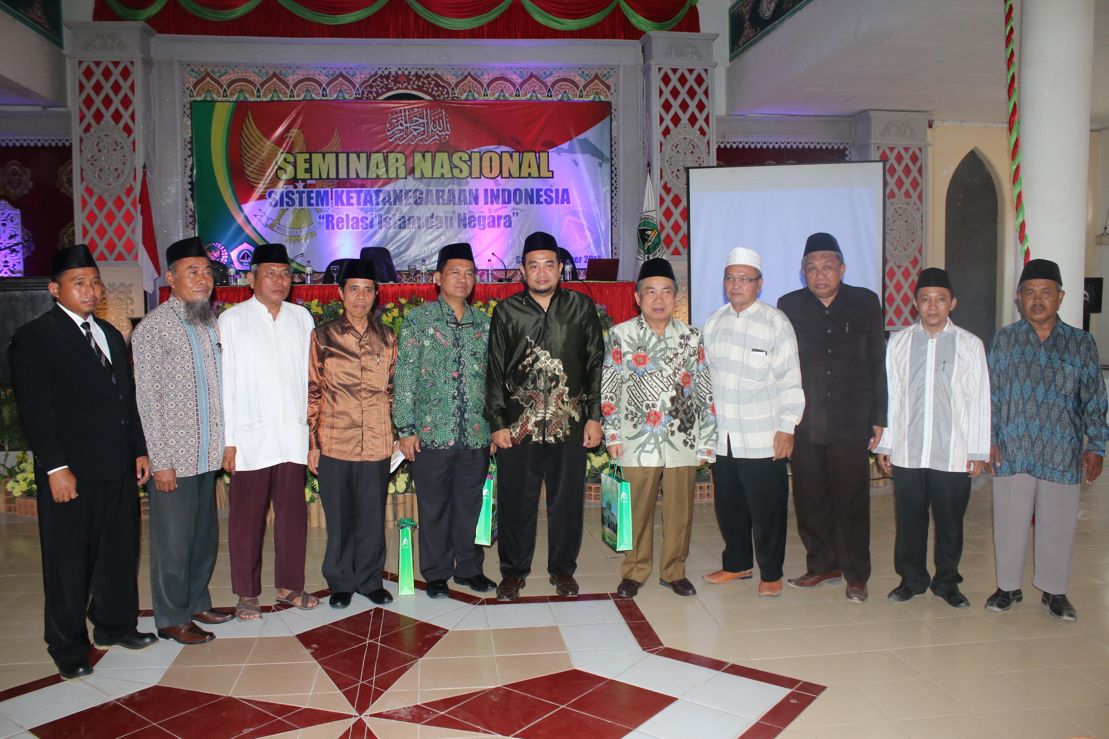 """Seminar Nasional """"Sistem Ketatanegaraan: Relasi Islam dan Negara"""""""